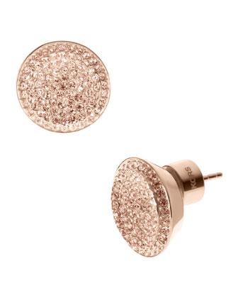 Michael Kors Pave Stud Earrings, Rose Golden - Michael Kors