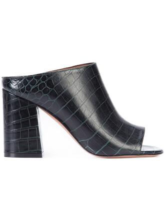 open women sandals leather black shoes