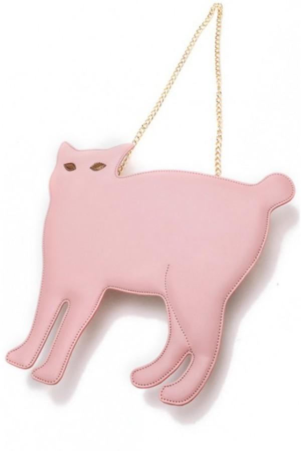 bag cat cat bag cat cat clutch kcloth kcloth accessories pink clutch black clutch cats
