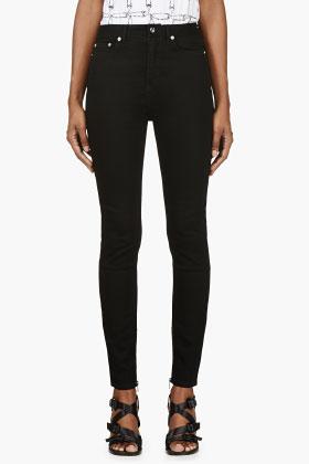 BLK DNM Black High Waist Skinny Jeans for women | SSENSE