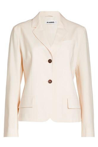 blazer wool pink jacket