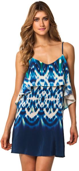 Vix Mustique Aline Dress in Blue | Lyst