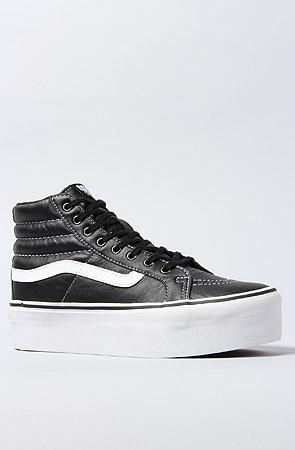 Vans Striped Platform Sneaker in Black -  Karmaloop.com