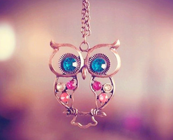 jewels owl necklace