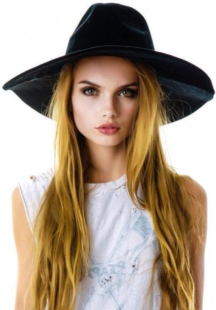 hat accessories velvet indie boho