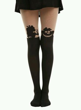 leggings disney alice in wonderland fashion pantyhose