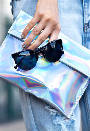 ipad clutch hologram laser print cosmic galaxy holographic  | fashiondacci | ASOS Marketplace