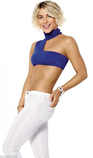 crop tops blue julianne hough