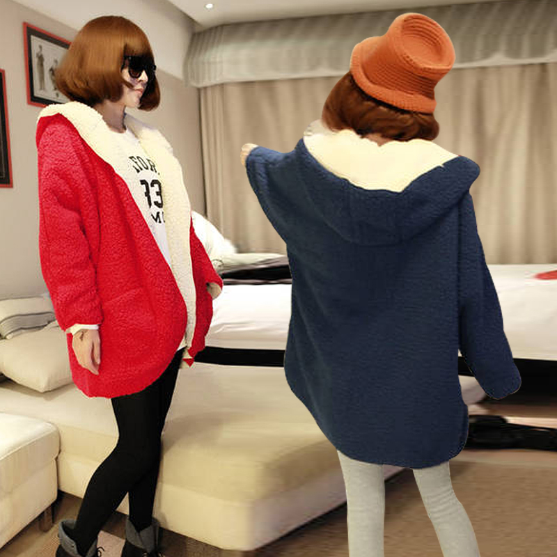 Free shipping! Winter Women's Reversible thick furry bat sleeve cashmere cardigan sweater jacket 002-inBasic Jackets from Apparel & Accessories on Aliexpress.com