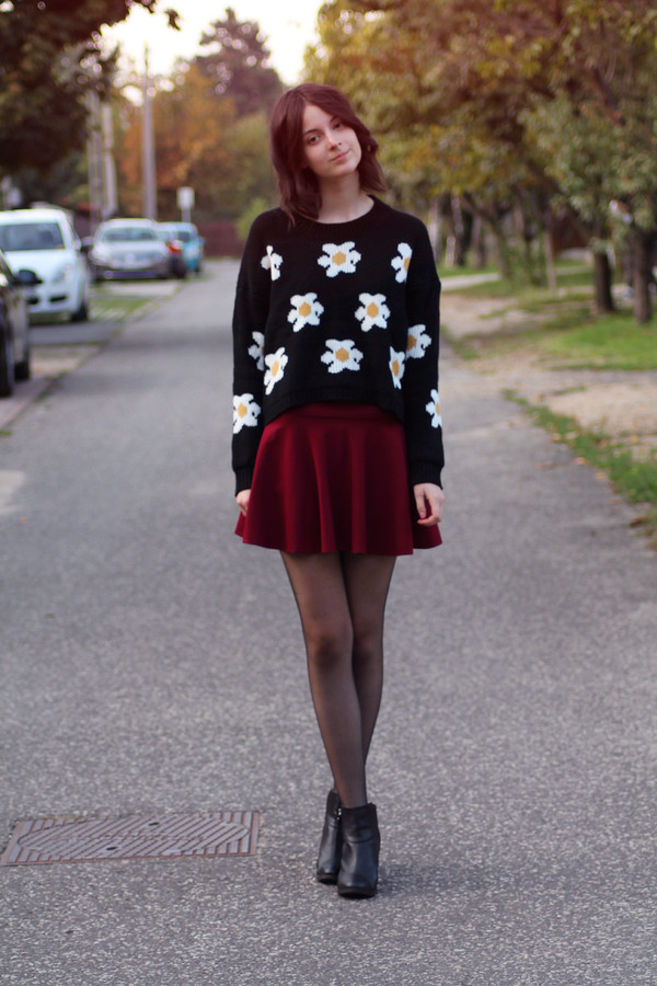mes memos skirt sweater shoes