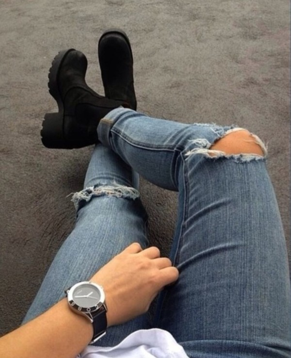 jeans denim blue skinny jeans ripped jeans jewels shoes