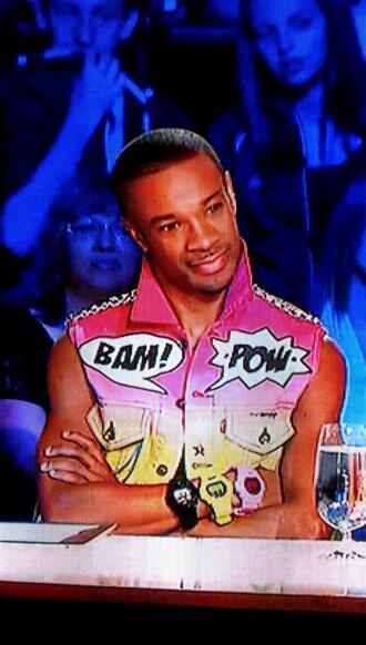 jacket richie jackson vest bam! pow vibrant pink magenta yellow ombre chain silver bright pink bright neon rock rock alternative scene clothes biker jacket biker kawaii cute audc abby's ultimate dance company