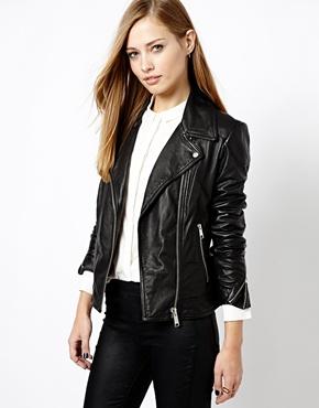 Whistles | Whistles Lita Leather Biker Jacket at ASOS