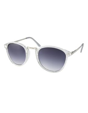 AJ Morgan | AJ Morgan Castro Glittler Round Sunglasses at ASOS
