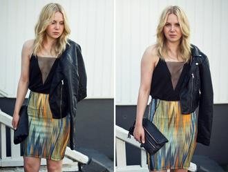 bag t-shirt jacket elenita skirt