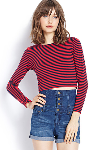 Striped Crop Top   FOREVER21 - 2000073510