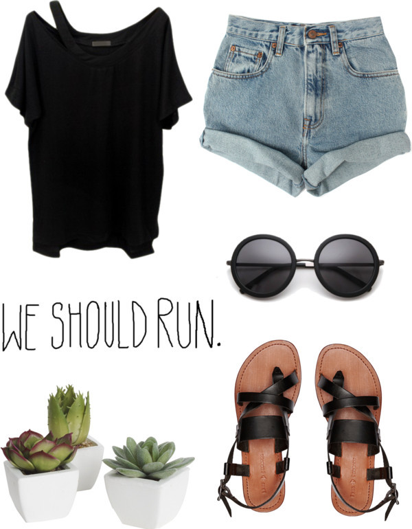 shoes summer black shoes girly tumblr girl shorts sunglasses t-shirt