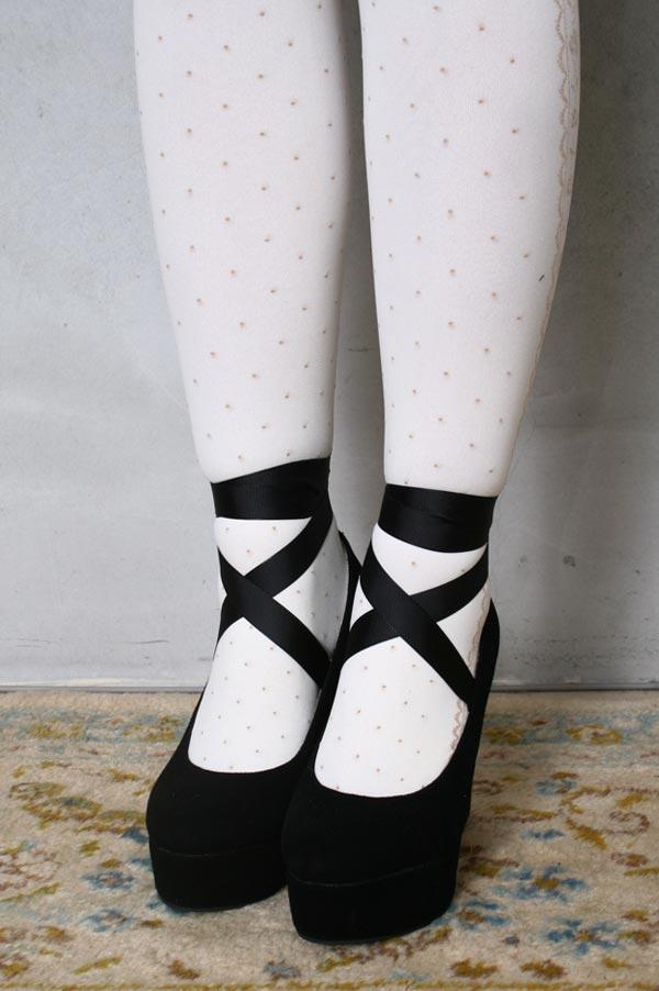 Goth Punk Rockabilly Suede Ballerina Wedge Ribbon Dolly Lolita Mary Janes Pump | eBay