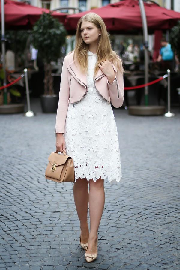white rabbit dreams dress jacket bag