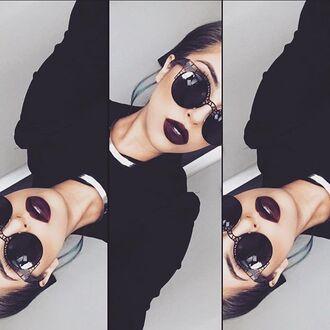 sunglasses lunettes de soleil lunette de soleil lunettes vintage black sunglasses round sunglasses