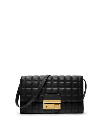 Michael Kors  Gia Quilted Leather Clutch - Neiman Marcus