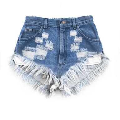 Original 420 Destroyed Shorts - Arad Denim