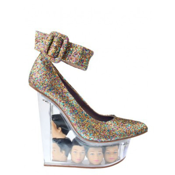 shoes envishoes wedges icy icy doll barbie ken doll jeffrey campbell barbie
