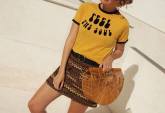 my daily style blogger skirt t-shirt bag shoes