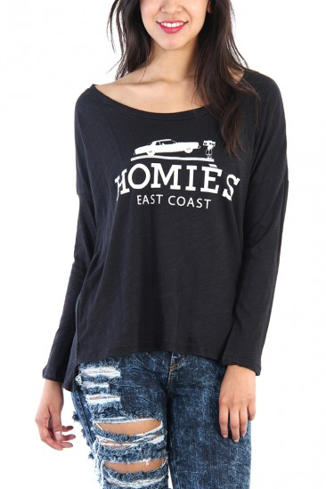 LoveMelrose.com From Harry & Molly | Homies Shredded Back Top