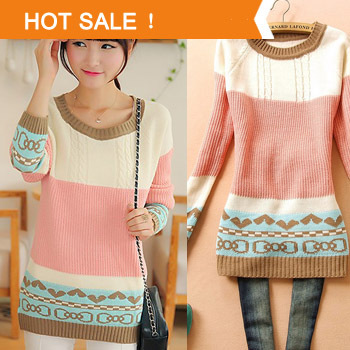 Pullovers Sweater for Women Promotion 2014 Spring Autumn New Brand Korean Style Knitted Women's Sweater Dress Sale-in Pullovers from Apparel & Accessories on Aliexpress.com