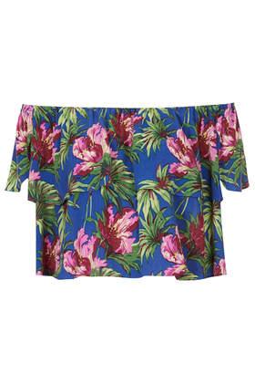Hibiscus Bardot Bandeau Top - Tops - Clothing - Topshop USA