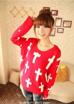 A20 2013 HARAJUKU oversized cross sweater-inSweaters from Apparel & Accessories on Aliexpress.com