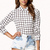 Grid Pattern Georgette Shirt | FOREVER21 - 2058116741