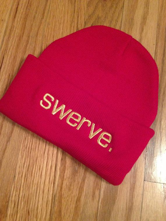 Red swerve. Knit Beanie on Wanelo