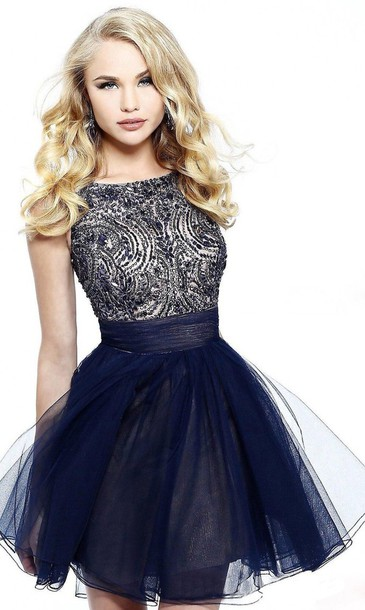 dress navy dress sequin dress