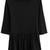 ROMWE | Round Neck Pleated Cropped Black T-shirt, The Latest Street Fashion