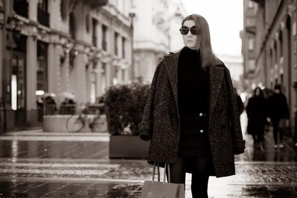 onto my wardrobe coat sweater skirt sunglasses bag