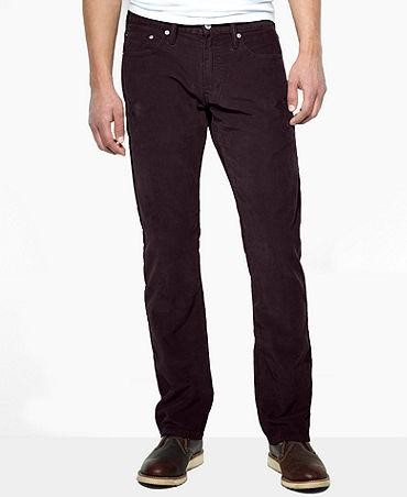 Levi's 514 Slim-Fit Straight-Leg Corduroy Pants - Pants - Men - Macy's
