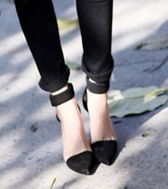 Vintage Womens High Heels Ankle Strap Pointed Toe Sandals Shoes Black Casual 1lQ | eBay