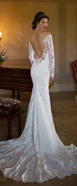 dress white dress prom dress gown prom dress lace dress