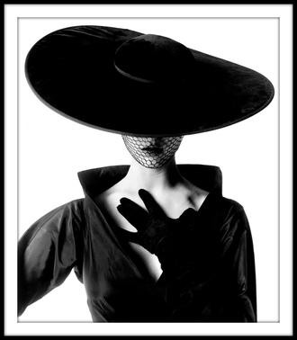 hat large black round fabulous glamour