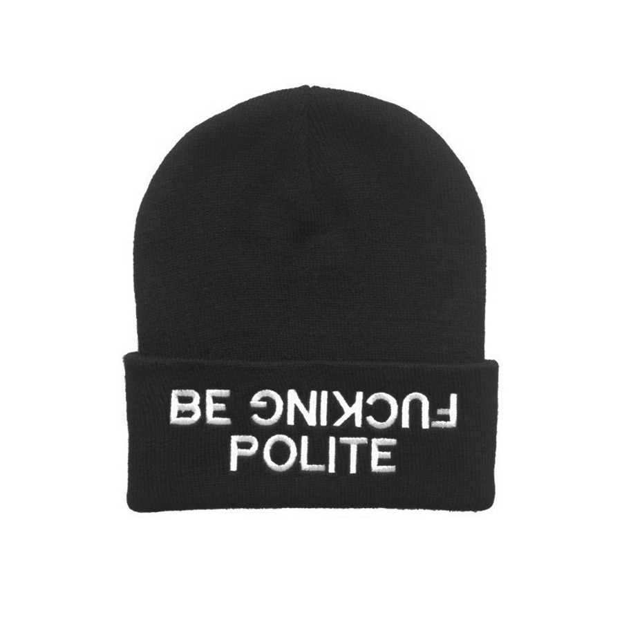 BE FUCKING POLITE BEANIE / back order – HolyPink