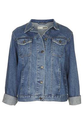 MOTO Vintage Oversize Jacket - Jackets & Coats  - Clothing  - Topshop
