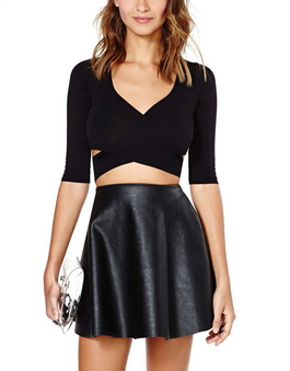 Star-crossed Lovers Crop Top - Black - Juicy Wardrobe