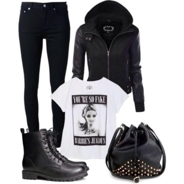 shoes grunge soft grunge t-shirt jacket