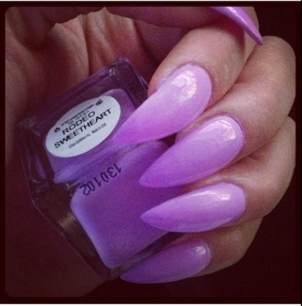 nail polish lilac nails stilleto nails stilettos pastel color fashion pretty