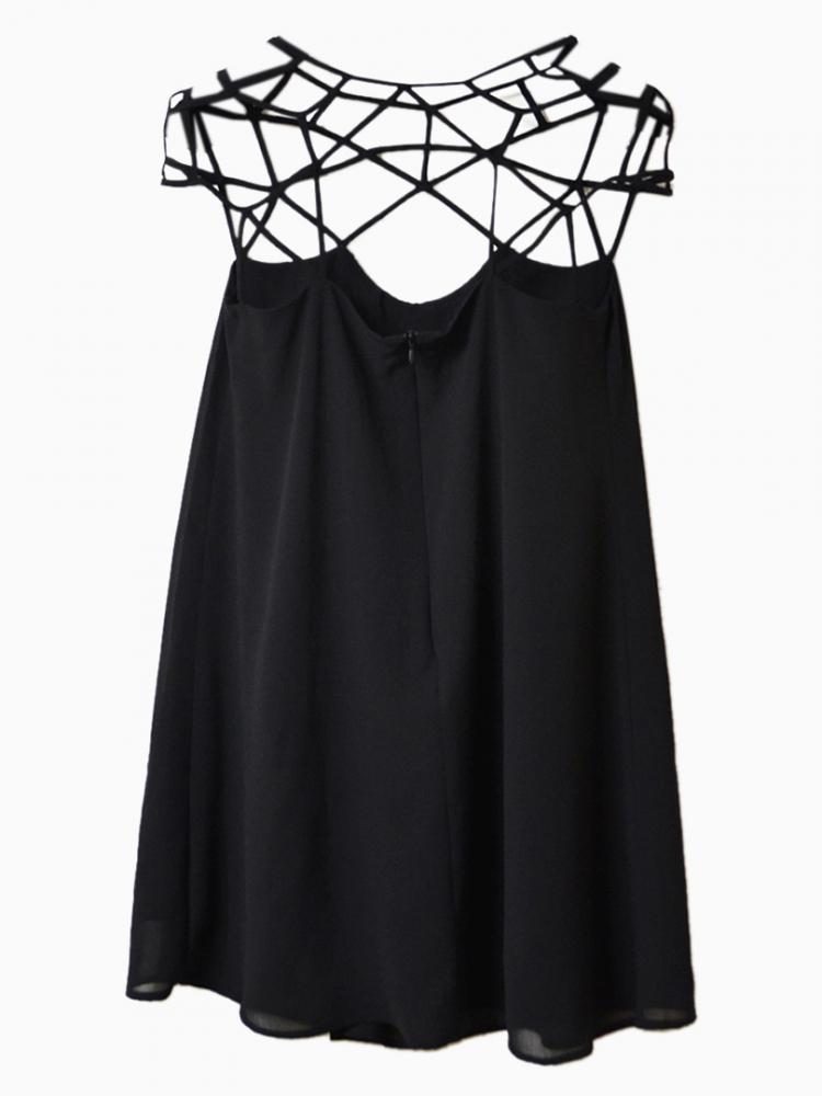 Fine Belt Mesh Dress   Choies