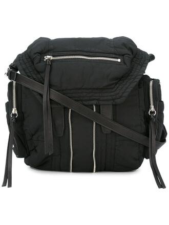 backpack leather black bag