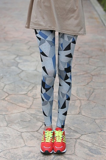 Chic Triangle Printing Ankle-length Legging [FBBI00152]- US$ 5.99 - PersunMall.com