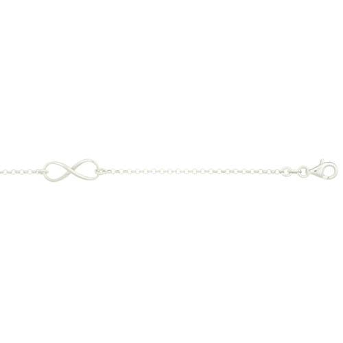 Bijoux fête des mères : bracelet femme en argent avec motif infini
